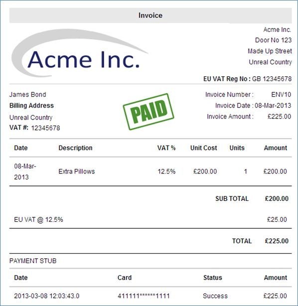 What Is A Vat Invoice Charging Value Added Tax To Eu Clients